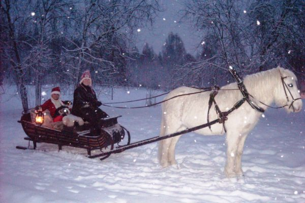 Santa at Horses of Taiga